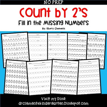 Skip Counting by 2's Fill in the Missing Numbers