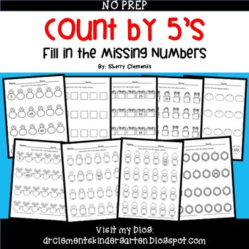 Skip Counting by 5's Fill in the Missing Numbers