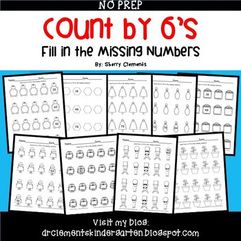 Skip Counting by 6's Fill in the Missing Numbers