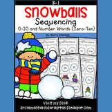 Snowballs Sequencing 0-20 and Number Words (zero-ten)