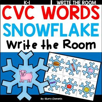 Snowflake Write the Room (CVC Words)