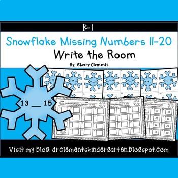 Snowflake Write the Room (Missing Numbers 11-20)