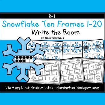 Snowflake Write the Room (Ten Frames 1-20)