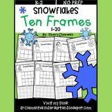 Snowflakes Ten Frames 1-20 (Cut and Paste)