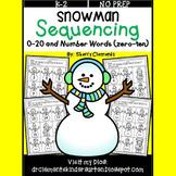 Snowman Sequencing 0-20 and Number Words (zero-ten)