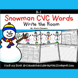 Snowman Write the Room (CVC Words)