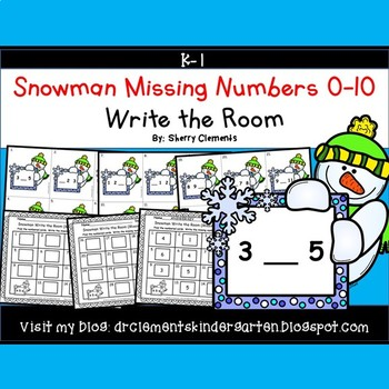 Snowman Write the Room (Missing Numbers 0-10)