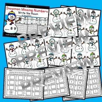 Snowman Write the Room (Missing Numbers 0-10) (Set 3)