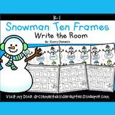 Snowman Write the Room (Ten Frames 1-20)