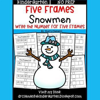 Snowmen (Five Frames)