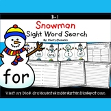 50% off 24 hrs Snowmen Sight Word Search
