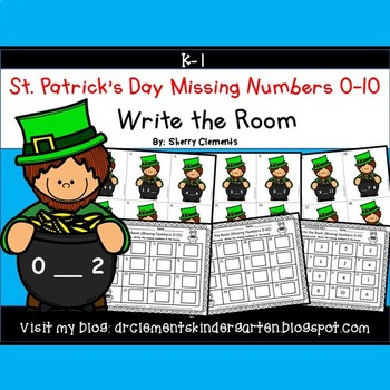 St. Patrick's Day Write the Room (Missing Numbers 0-10)