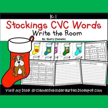 Stockings Write the Room (CVC Words)