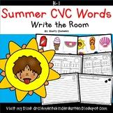 Summer CVC Words Write the Room