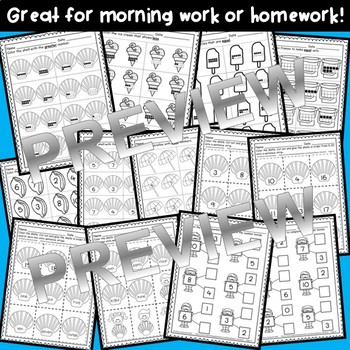Summer Print and Learn Literacy and Math