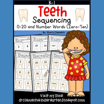 Teeth Sequencing 0-20 and Number Words (zero-ten)