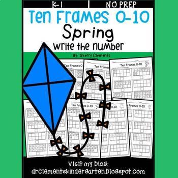 Ten Frames 0-10 Spring (Write the Number)