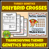 Thanksgiving Dihybrid Cross Worksheet -Turkey Genetics Punnett Squares