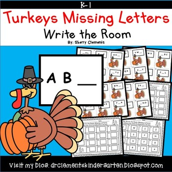 Turkeys Write the Room (Missing Letters)