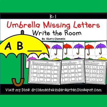Umbrella Write the Room (Missing Letters)