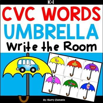 Umbrellas Write the Room (CVC Words)