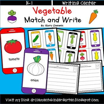 Vegetable Match and Write