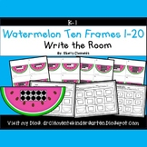 Summer Watermelon Write the Room (Ten Frames 1-20)