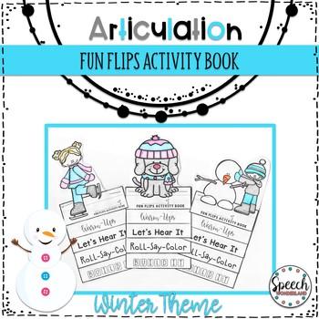 Winter Articulation Fun Flips - Activity Book
