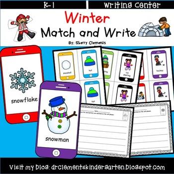 Winter Match and Write