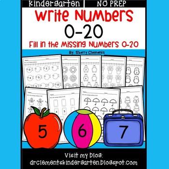 Write Numbers 0-20 (Set 2)