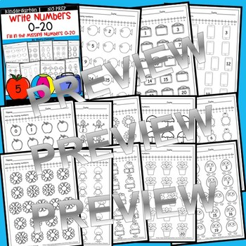 Write Numbers 0-20 (Set 2)