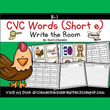 Write the Room CVC Words (Short e)