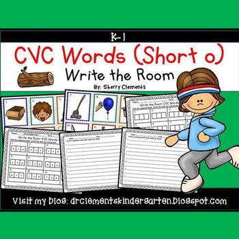 Write the Room CVC Words (Short o)
