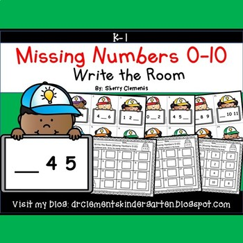 Write the Room (Missing Numbers 0-10) (Set 6)