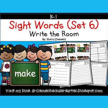 Write the Room (Sight Words) (Set 6)