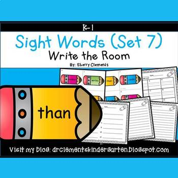 Write the Room (Sight Words) (Set 7)