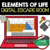 Elements of Life Digital Escape Room, Breakout Room Activity Pages, No Prep