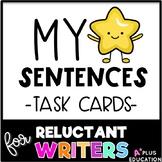 Sentence Writing My Star Sentences - Task Cards