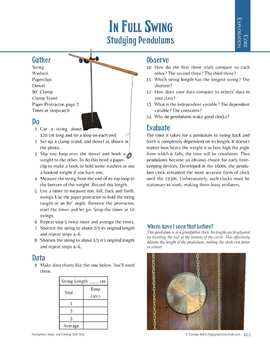 Pendulum Lab: Change Independent and Dependent Variables in 3 Lab Experiments