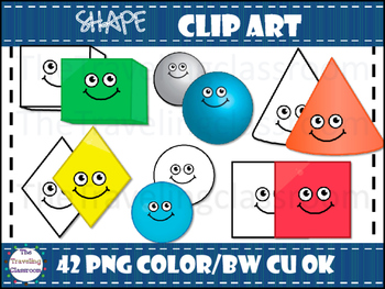 2D and 3D Shape Clip Art