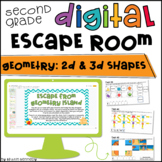 2nd Grade Digital Escape Room: Geometry | Distance Learning