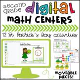 St. Patrick's Day Math Centers- Digital, 2nd Grade