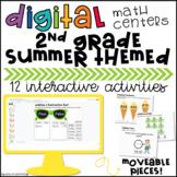 2nd Grade Math Review Digital Centers Google Classroom™ Di