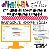 2nd Grade Estimating & Measuring Lengths Digital Centers f