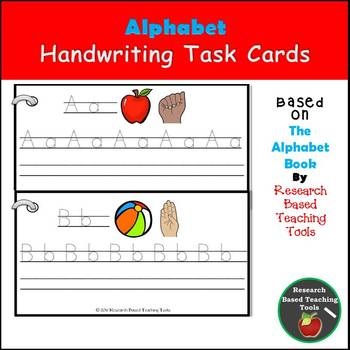 Alphabet Handwriting Task Cards based on The Alphabet Book