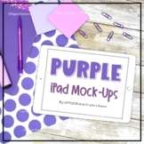 Ipad Mock-up Styled Images with Purple Supplies