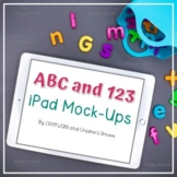 iPad Mockups   Styled Images with Bright Letters and Numbers