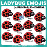 Ladybug Emoticons ClipArt for Bugs and Insects Theme Resources