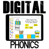 Google Classroom™ Activities Reading Sentences with Phonics (crayons)