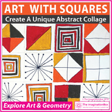 Math and Art Lesson - Squares & Geometry Collage Activity